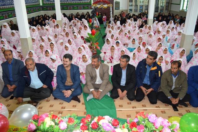 شركت فرماندار در مراسم جشن تكليف 370 دانش آموز دختر مدارس شهرستان زيركوه